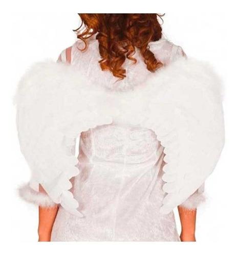 alas angelito con plumas blanca disfraz halloween egresados