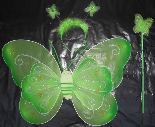 alas campanita hada mariposa ángel princesa disfraz niña ver