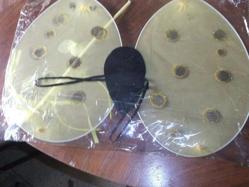 alas de abeja de tul,, varita y vincha, disfraz $    290