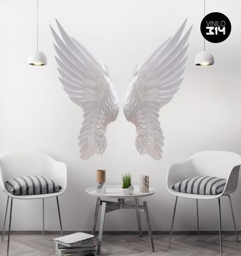 alas de angel blancas vinilo decorativo calcomania de pared