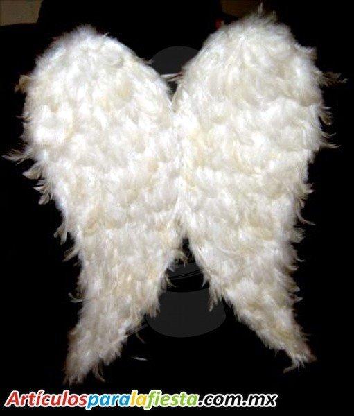 Alas De Angel Blanco Con Aureola Disfraz Plumas Naturales 34900