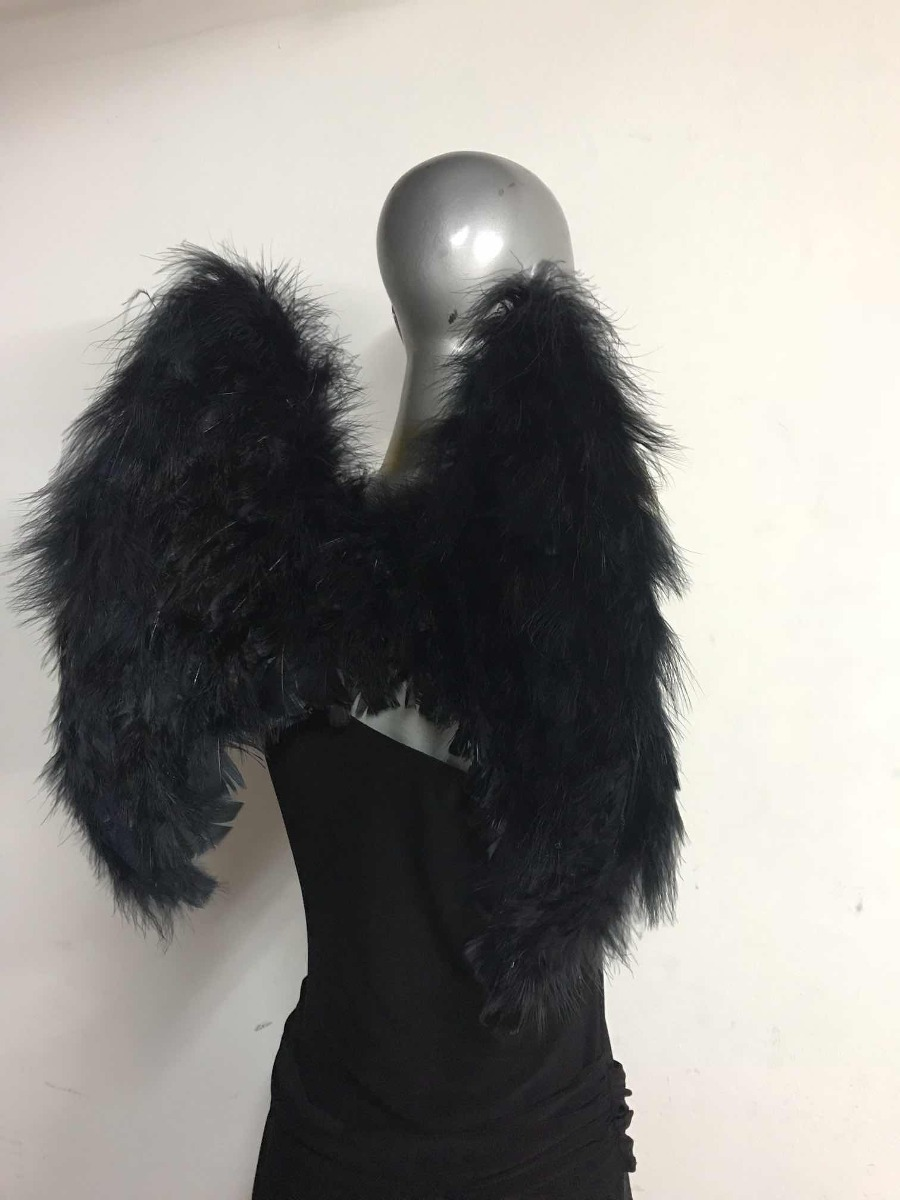 Aureolas Gigantes alas de Ángel de plumas negras o blancas con aureola