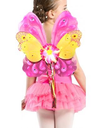 alas de mariposa o hada rosa disfraz de primavera nia