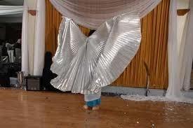 alas doradas o plateadas para danza arabe