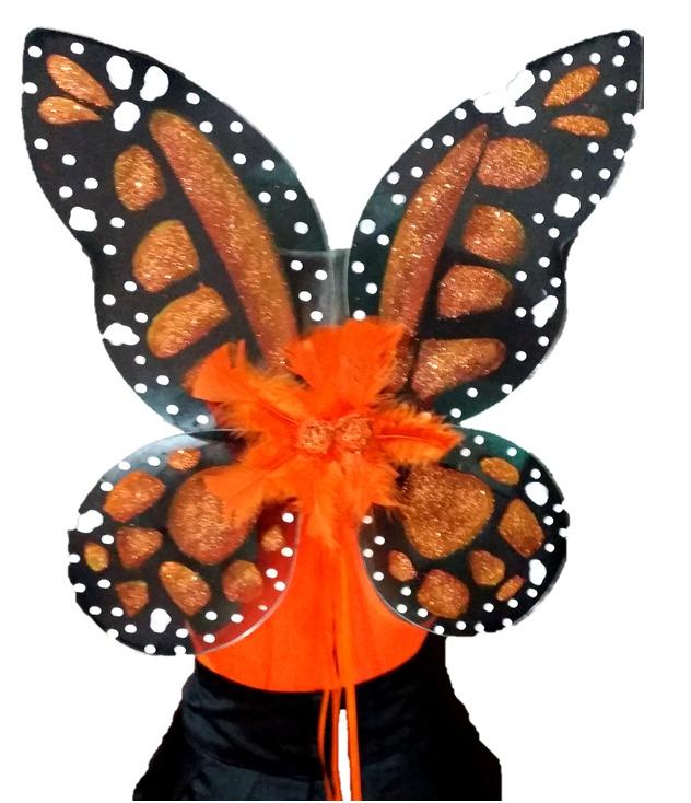 alas para disfraz de mariposa monarca nia o mujer cosplay