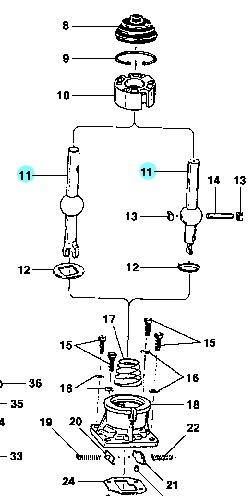 alavanca inferior marchas (palanca) câmbio d20 94/96
