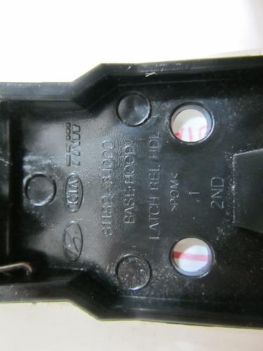 alavanca maçaneta do capô kia picanto hyundai hb20 - cinza