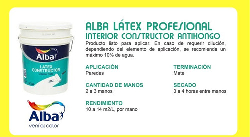 alba latex profesional interior constructor  20lts pintumm