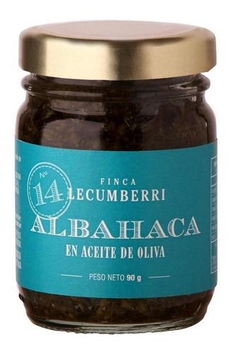 albahaca con aceite finca lecumberri x90grs