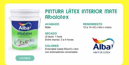 albalatex látex interior mate x 4 lts alba