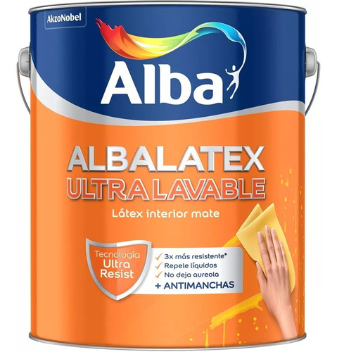 albalatex ultralavable interior mate x20 lt rodillo