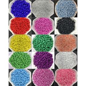 Albalorio Mostacillas 4mm X 400u Cuentas Varios Colores