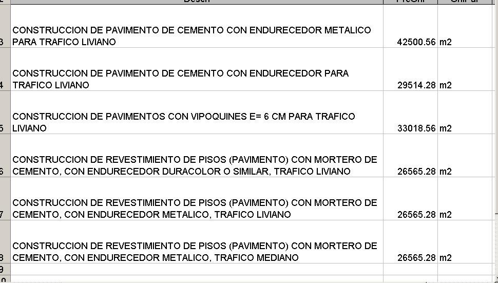 albañilería presupuesto tabulador mano obra septiembre 2018 bs 84