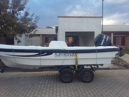 albatros 530 con mercury 90 hp 2016- no permuta, esc oferta