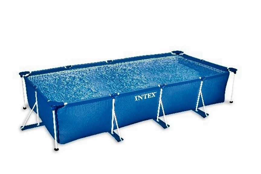 Alberca armable rectangular 260 160 envio gratis intex for Piscinas de plastico rectangulares