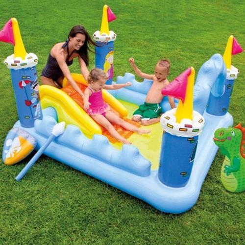 alberca castillo de fantasia inflable para niños dino intex
