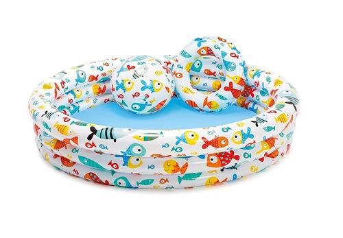 alberca fishbowl pool set pelota y salvavidas intex 59469