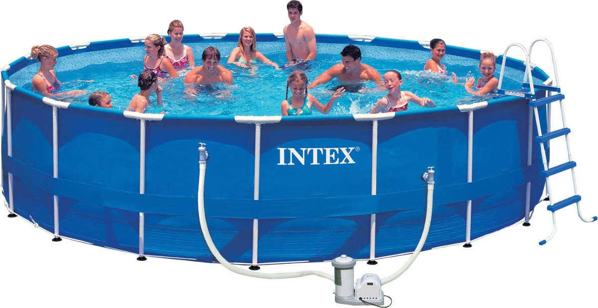 Alberca gigante piscina familiar intex con bomba x 1 for Alberca familiar intex