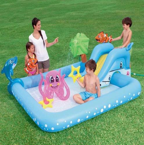 Alberca infantil bestway acuario juguetes inflables for Albercas bestway precios