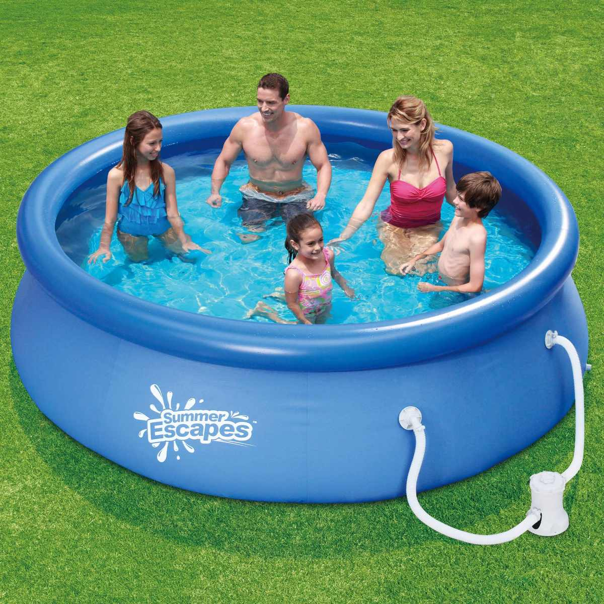 Alberca inflable 3 mts x 76cm bomba filtro summer escapes 1 en mercado libre for Above ground swimming pools for sale
