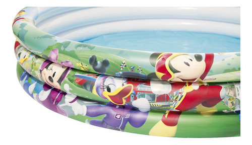 alberca inflable bestway 3 aros mickey mouse racer niño niña
