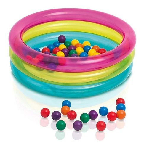alberca inflable de pelotas para bebé intex