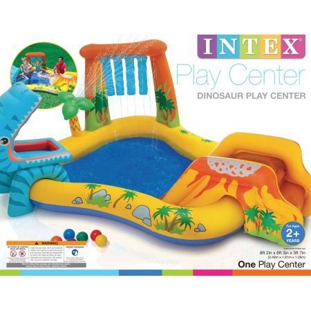 alberca inflable dinosaur kiddie playcenter xtreme