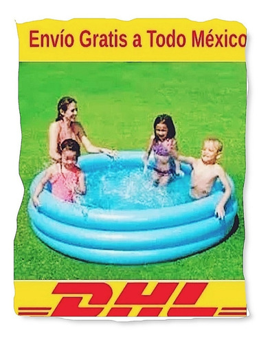 alberca inflable piscina niños 3 aros 152 cm x 30cm play day