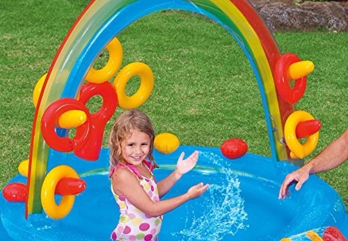 alberca inflable piscina resbaladilla area de juego agua