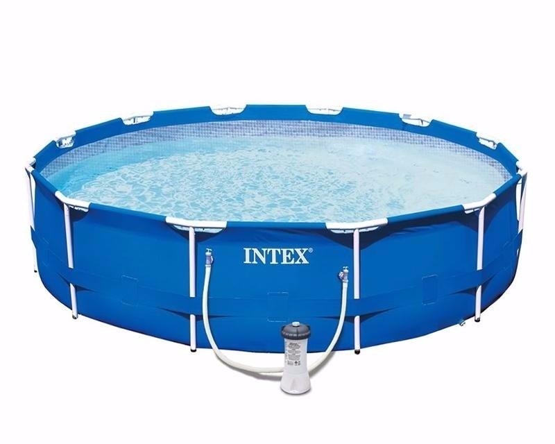 Alberca intex circular con bomba de filtrado 3 for Albercas de plastico intex