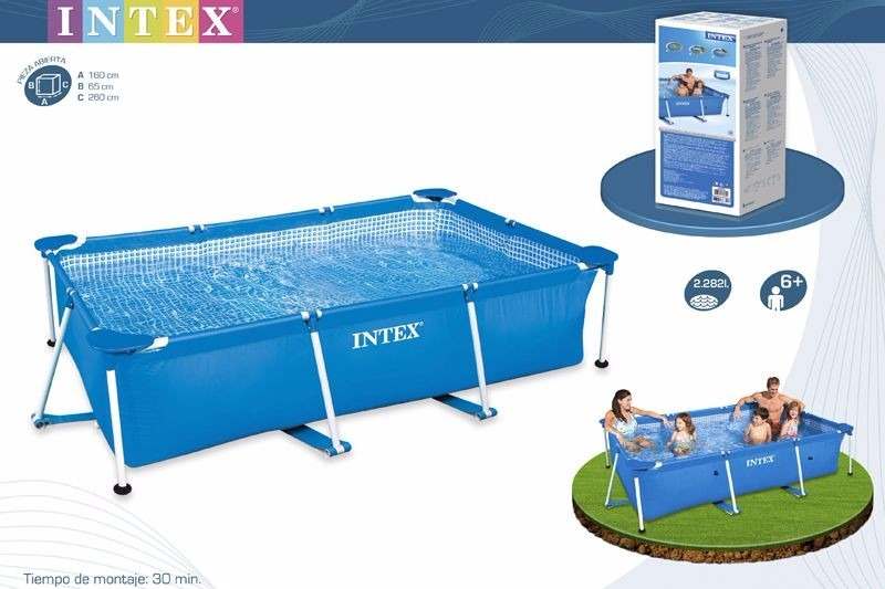 Alberca intex rectangular 2 en mercado libre for Donde venden piscinas estructurales