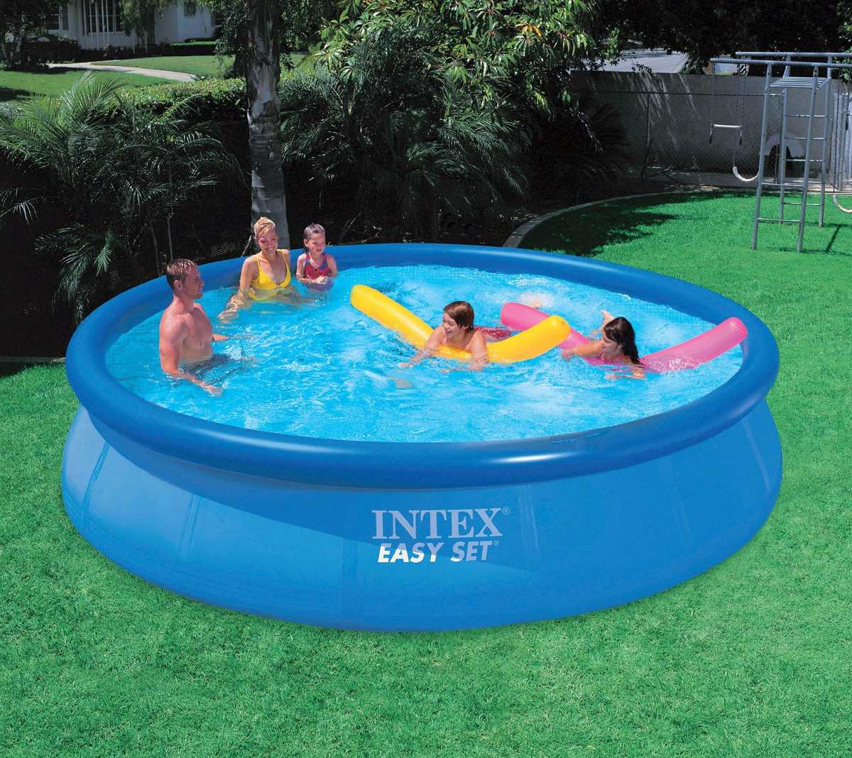 Alberca intex redondas f cil instalaci n grandes 15ft x for Alberca intex redonda
