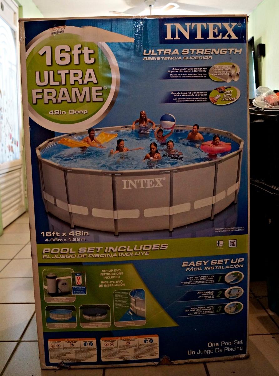 Alberca Intex Ultra Frame, 4.88 M X 1.22 M - $ 8,900.00 en Mercado Libre