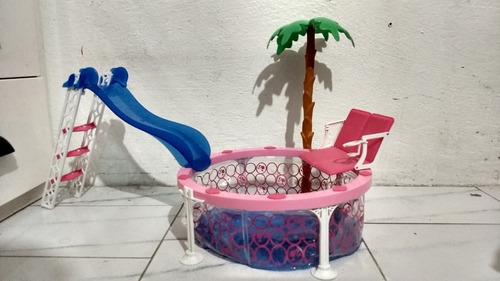 alberca piscina barbie casa usada original mueble auto