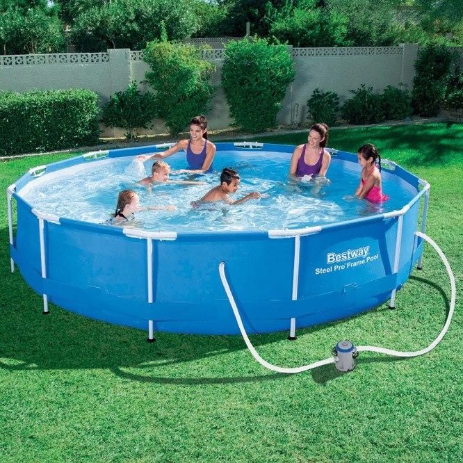 Alberca piscina estructural bestway m x 1 m con bomba for Piscinas estructurales