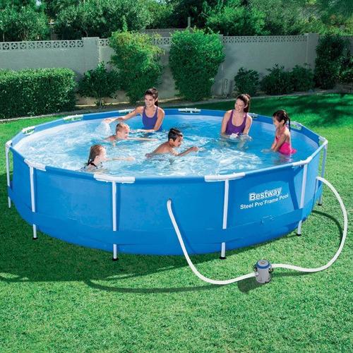 alberca piscina estructural bestway 3.66 m x 1 m con bomba
