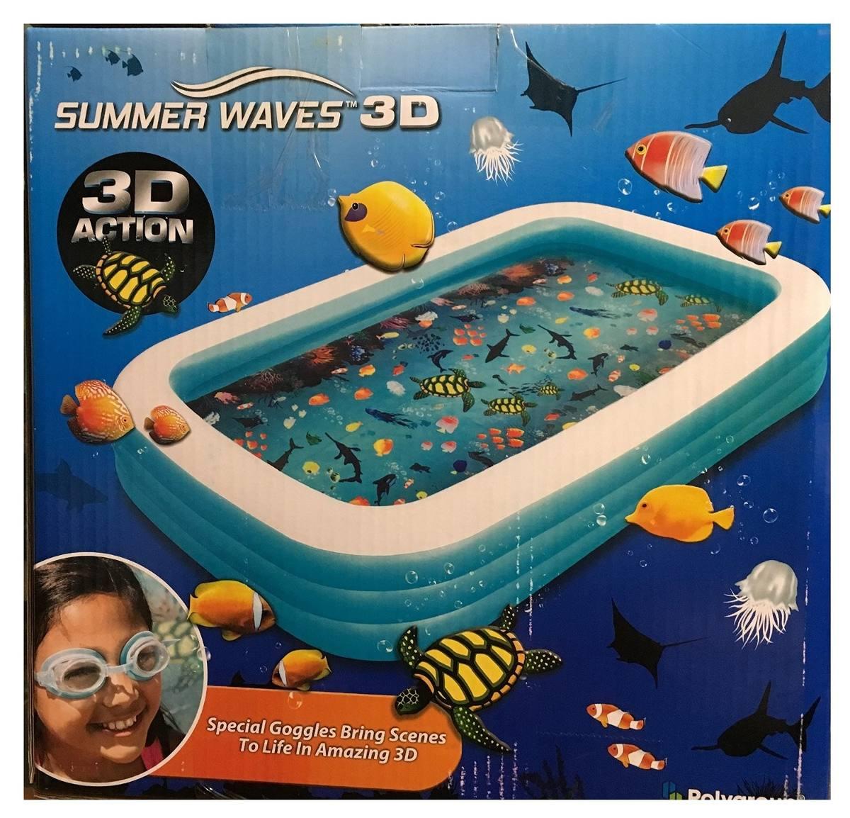 Alberca piscina inflable familiar 3d nuevo 1 en for Piscina 3d
