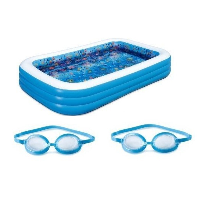 Alberca piscina inflable familiar summer waves 3d for Piscina inflable rectangular