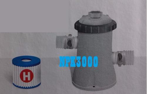 alberca piscina intex 2.44 m + bomba filtrante + cubierta