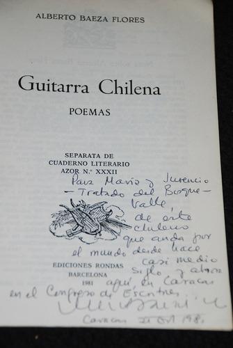 alberto baeza flores guitarra chilena poemas juvencio valle
