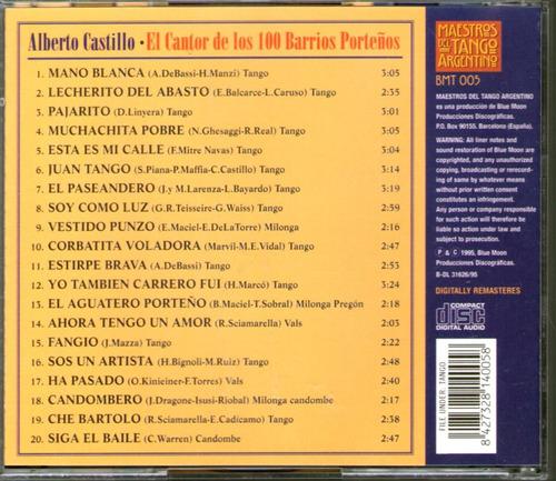 alberto castillo el cantor de los 100 barrios -cd