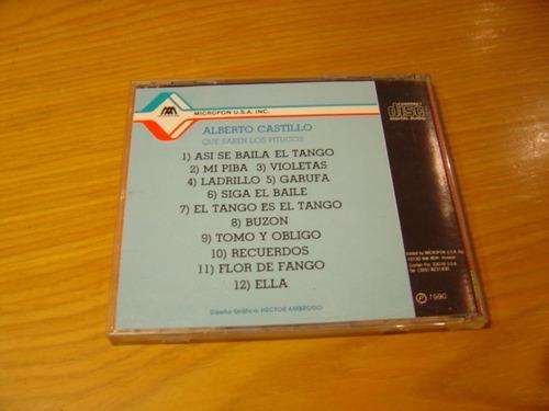 alberto castillo que saben los pitucos cd tango usa 1990