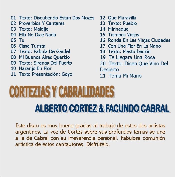 fe7e0954e Alberto Cortez Facundo Cabral Cd Cortezias Y Cabralidades - $ 449,90 ...