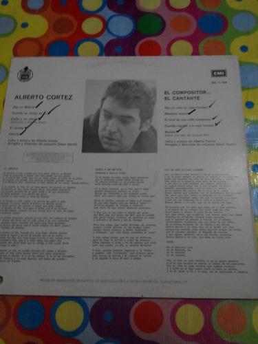 alberto cortez lp el compositor, el cantante 1985