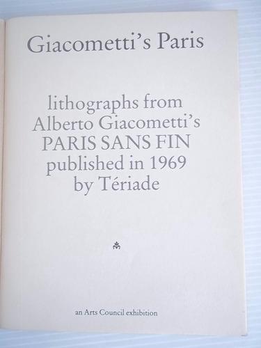 alberto giacometti's paris sans fin litografías unico dueño