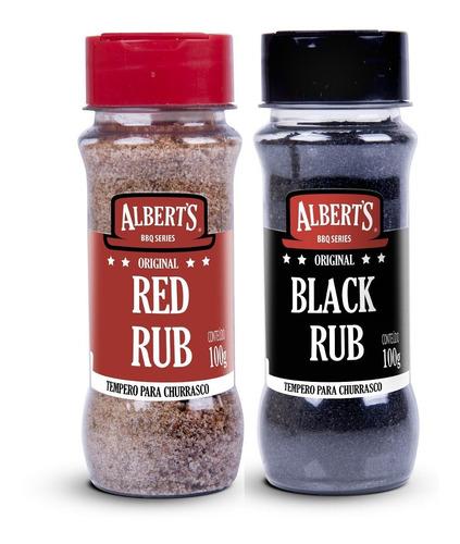 albert's rubs - 1un red rub e 1 un black rub
