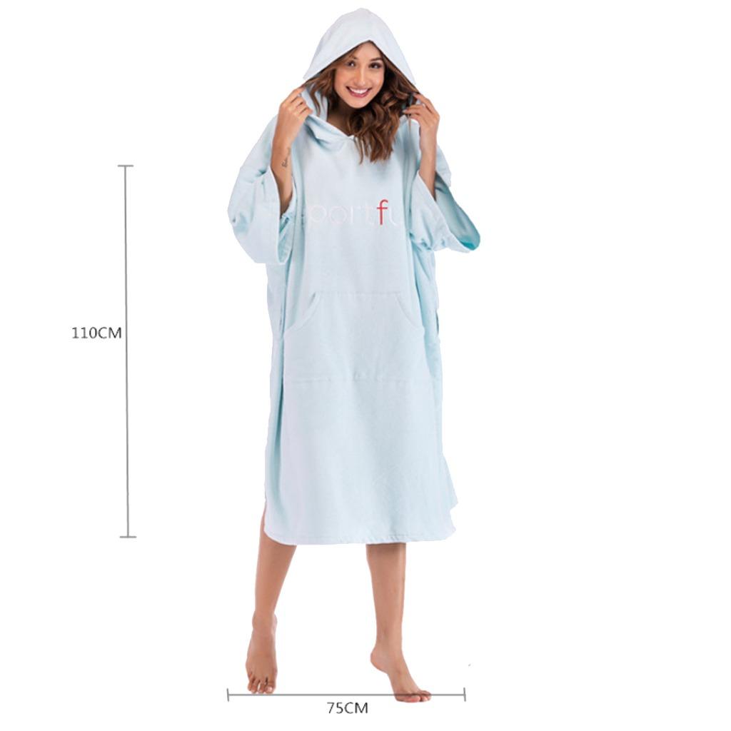 bbf30fea2a4 albornoz toalla baño oleaje cambio túnica poncho playa con. Cargando zoom.