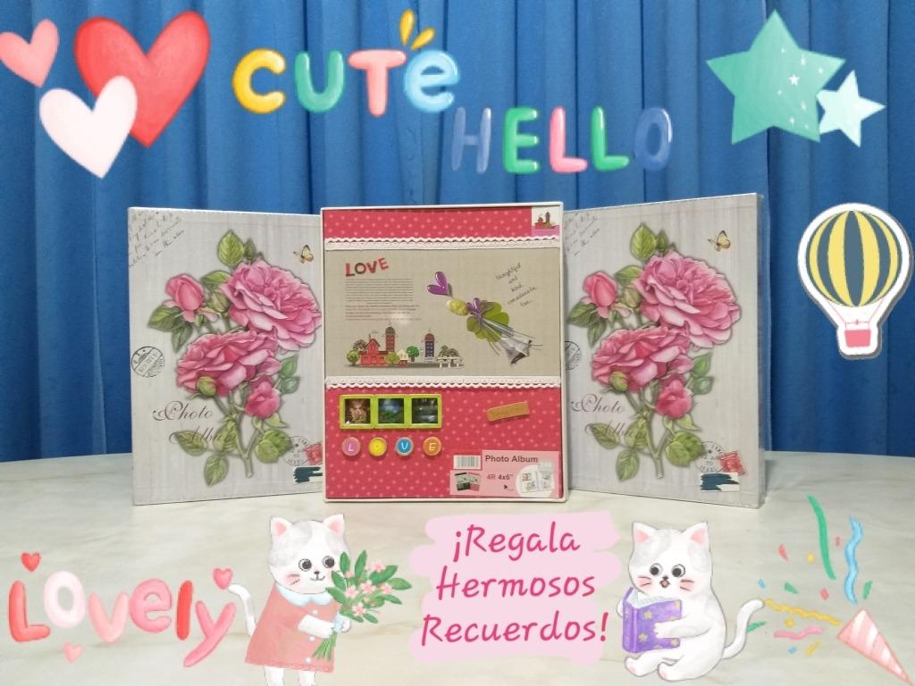 FaCraft /Álbum de fotos para beb/é 300 fotos de 4 x 6 rosa rosa