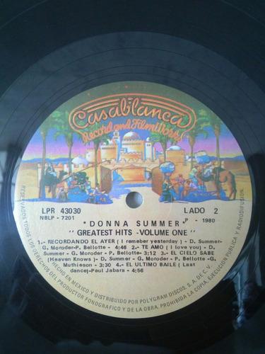 álbum acetato vinilo lp donna summer greatest hits vol one