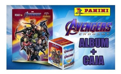 album avengers end game panini + caja de laminas